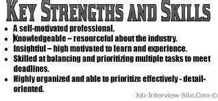 strengths skills   resume resume skills job resume