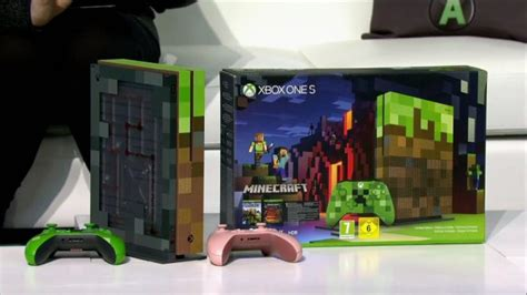 minecraft xbox one s console revealed during microsoft s gamescom conference