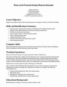 entry level financial analyst resume example writing With entry level finance resume