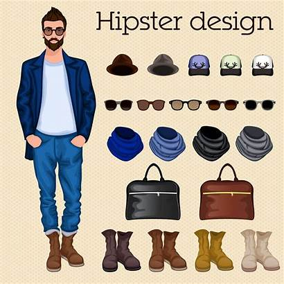 Hipster Guy Vector Elements Illustration Clothes Clothing