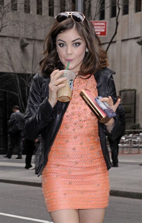 LUCY HALE Outside The View Show in New York – HawtCelebs