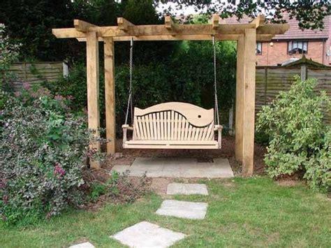 beautiful wooden swings home design garden