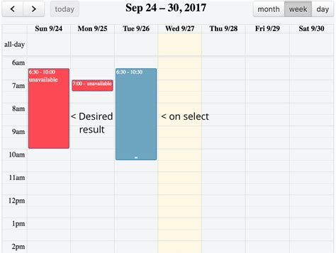 fullcalendar change event color select stack overflow