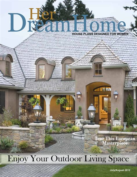 home plan magazines house plans inspiring outdoor living spaces dfd house plans