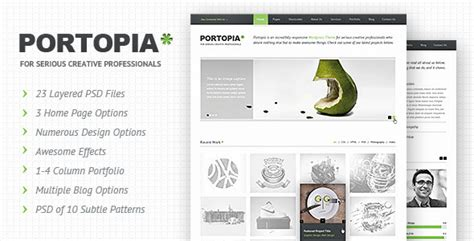 Avada Portfolio Tree Column Template by Portopia Psd Jogjafile