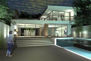 maison de ville avec piscine sur bordeaux ha 11 architecte With plan maison avec patio 12 ha 10 villa contemporaine par hybre architecte en gironde
