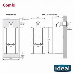 Ideal Logic   Plus Model  Combi 30 Boiler Clock And Flue