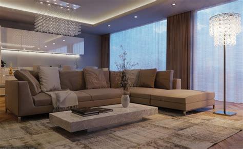 canapé pour salon déco salon gris et taupe pour un intérieur raffiné ideeco