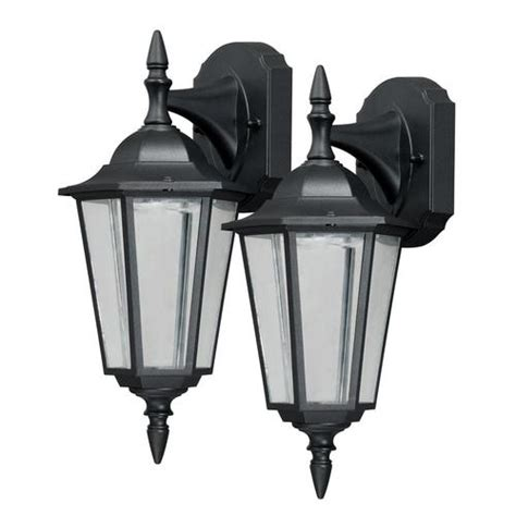 1 light 2 pack 14 75 quot textured black outdoor wall