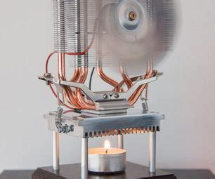 thermoelectric fan powered by a candle thermoelectric fan powered by a candle engine and