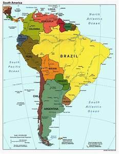 latin america world map