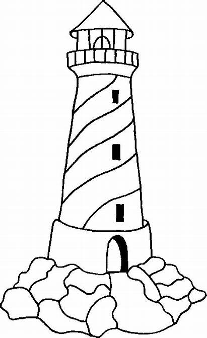 Lighthouse Drawings Sheets Cliparts Colouring Coloring Pages