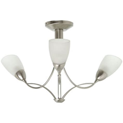 ceiling light 3 arm brushed chrome ceiling light
