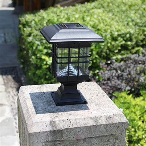 new retro waterproof led solar panel ls pillar wall