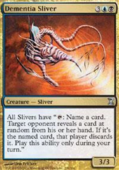 dementia sliver card dementia sliver magic the gathering