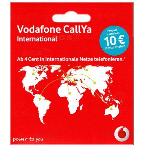 vodafone international  guthaben callya prepaid handy