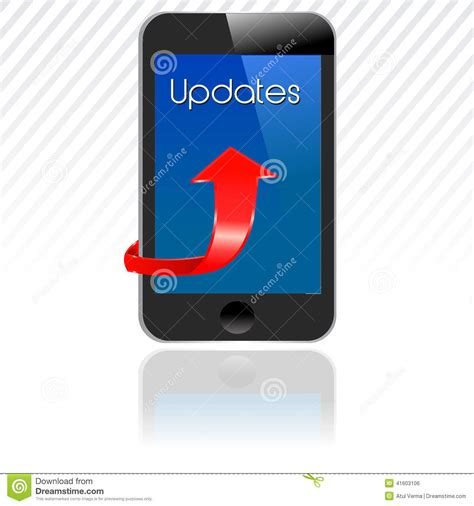update my smartphone smartphone with updates mobile update stock vector