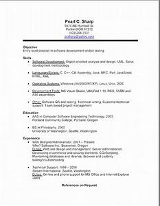 Examples Resumes 10 How To Write A Simple Resume
