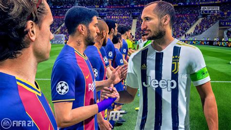 FIFA 21 | Juventus vs FC Barcelona | UEFA Champions League ...