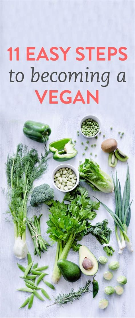 11 Easy Steps To Becoming Vegan  Vegans, Easy And