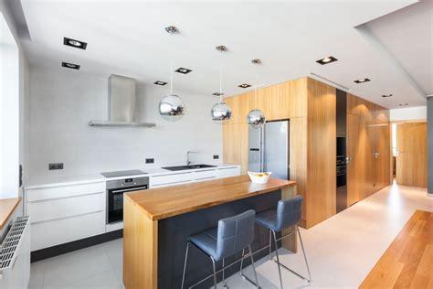 open apartment  wood  define  interior spaces