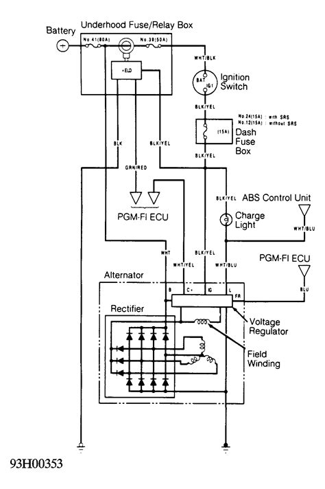 1995 Honda Accord Wiring Diagram Color by I A 92 Honda Civic With A Charging Problem We Took