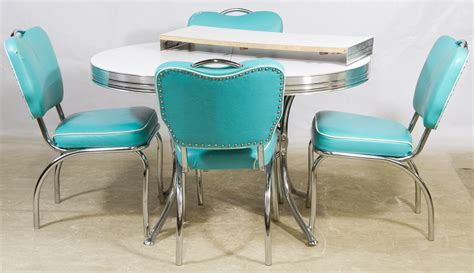 chrome table and chairs mid century modern chrome and formica kitchen table and