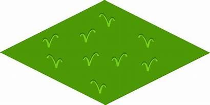 Isometric Tile Floor Clipart Taman Grass Diamond