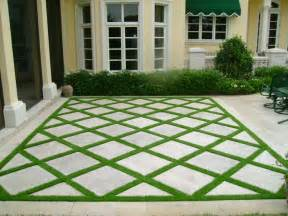 paver and grass patio the yard