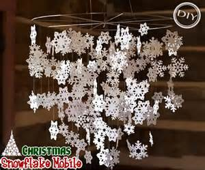 diy snowflake mobile top easy interior design for decor project holicoffee