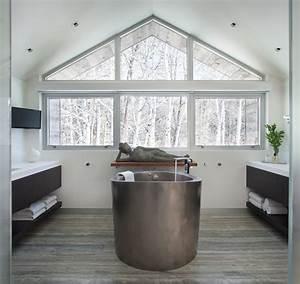 fenetres sur mesure qui suivent la pente du toit 15 With salle de bain design avec feng shui décoration