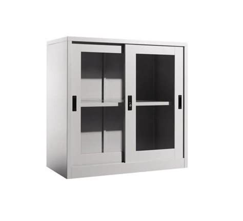 Cupboard Glass Doors by Steel Half Height Cupboard With Sliding Glass Doors
