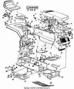 Mtd 146y834p401  1996  Parts Diagram For Seat  Hood Assembly  Frame  Grille