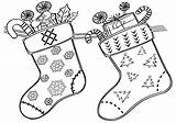 Coloring Sock sketch template