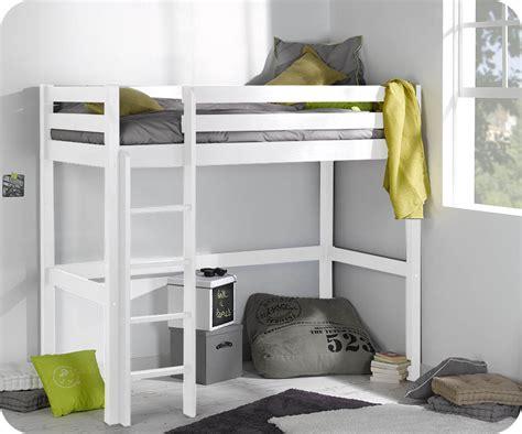 lit mezzanine bureau pas cher lit enfant mezzanine cargo blanc 90x190 cm