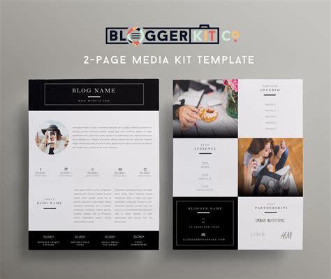 beauty blogger ii black media kit template media kit