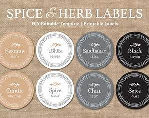 editable spice jar labels diy printable kitchen labels With kitchen colors with white cabinets with round label stickers