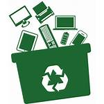 Waste Recycling Ewaste Management Icons Electronics Hazardous