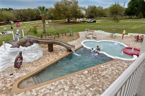 the sweet escape ice cream cone swimming pool splash park