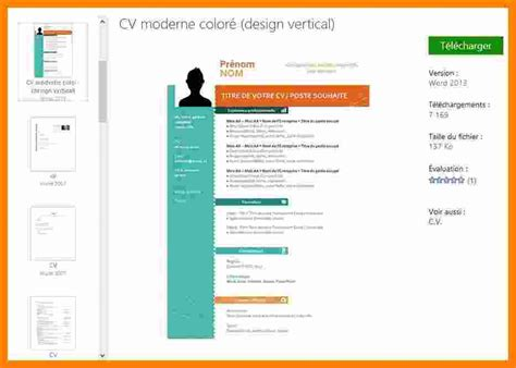 Type Cv Word by Word Cv Cv Type Gratuit Degisco