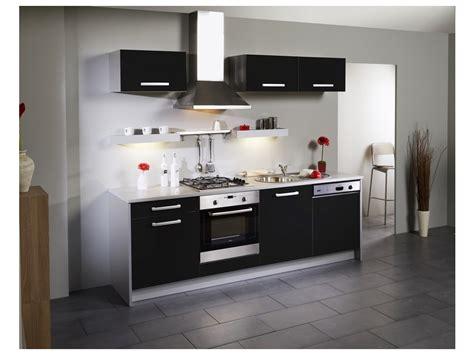 meuble de cuisine noir pas cher tout sur la cuisine