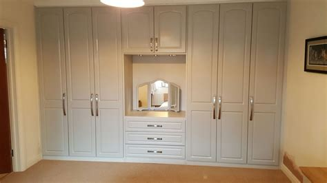 Built In Wardrobe With Dressing Table And Internal Drawers