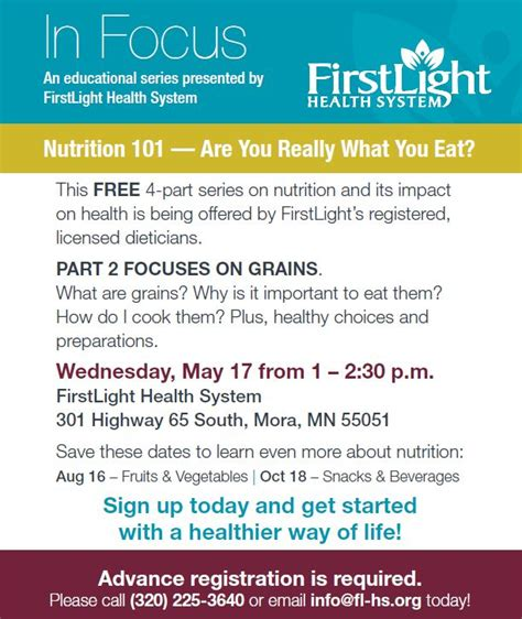 Light Health System by In Focus Are You Really What You Eat Firstlight