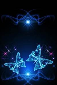 Glowing 3D Butterfly HD Wallpaper For Mobile