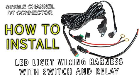 led light wiring harness  switch  relay single