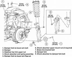 2001 Ford Windstar Front Lower Control Arm Parts Diagram