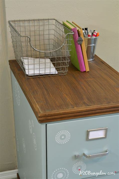 how to dress up a metal file cabinet wood trimmed filing cabinet makeover h20bungalow