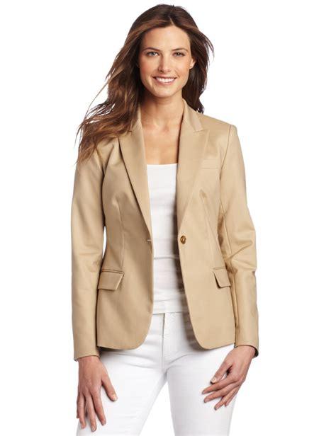 Khaki Blazer Womens - Trendy Clothes