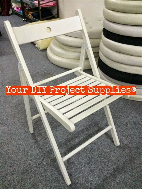 wooden folding chair white  diy project supplies