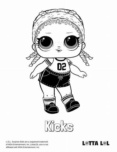 Lol Coloring Pages Surprise Kicks Lotta Doll
